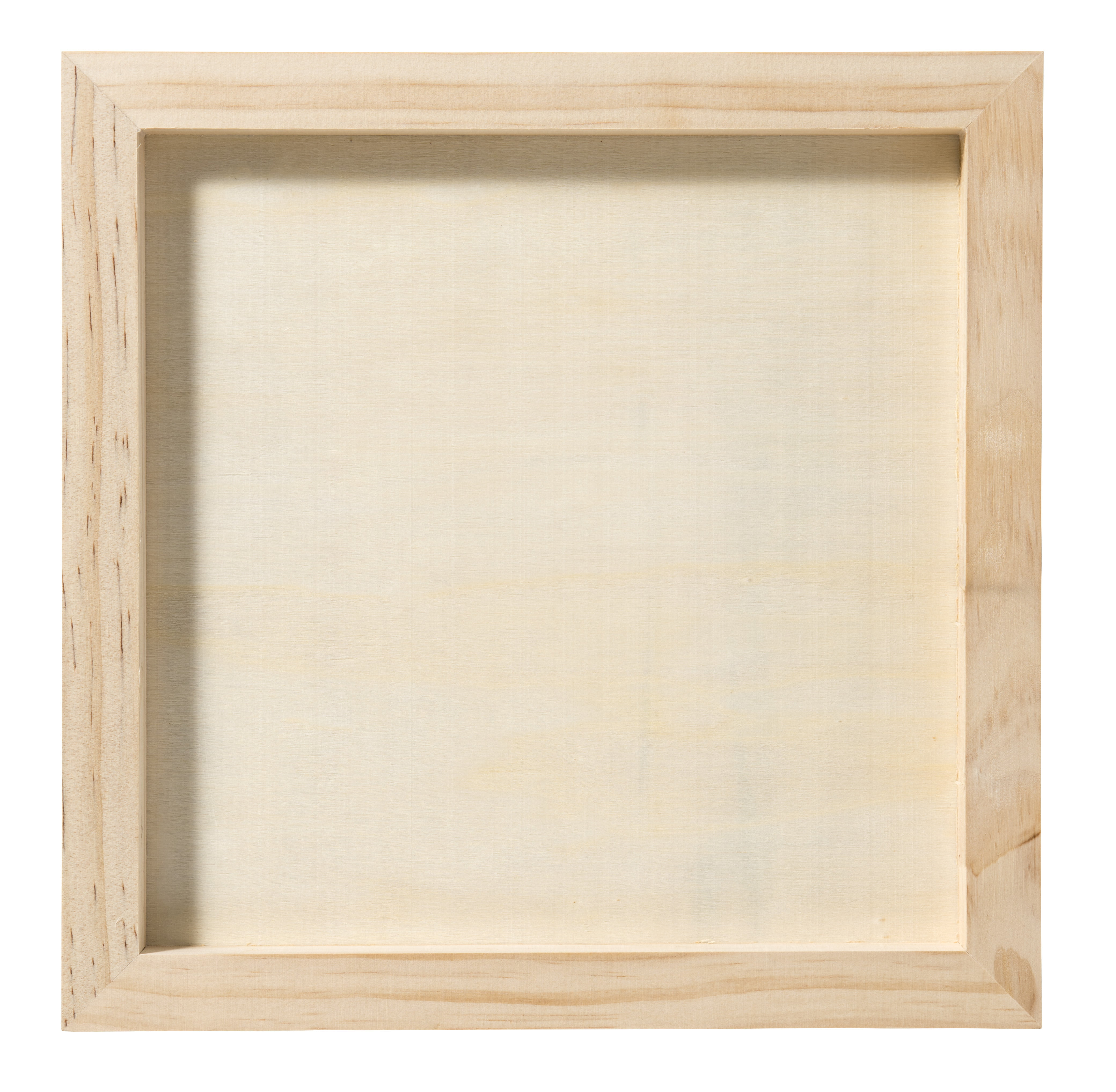 5 Pcs Wood Canvas Boards,5 x 5 Unfinished Wood Painting Board 0.4 Deep Wooden Cradled Painting Panel for Arts /& Craft