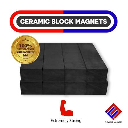 Heavy Duty Bar Magnets - Ferrite Blocks Ceramic Rectangular Square