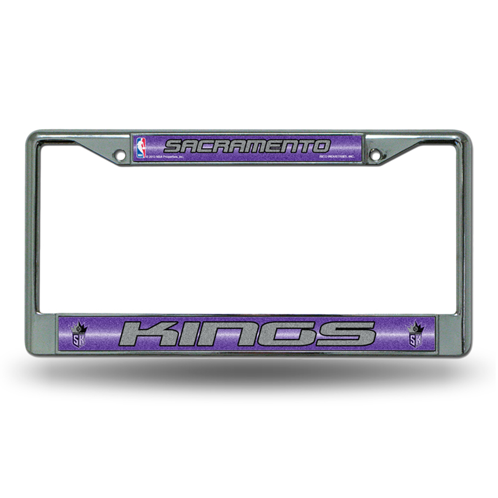 Sacramento Kings NBA Bling Glitter Chrome License Plate Frame