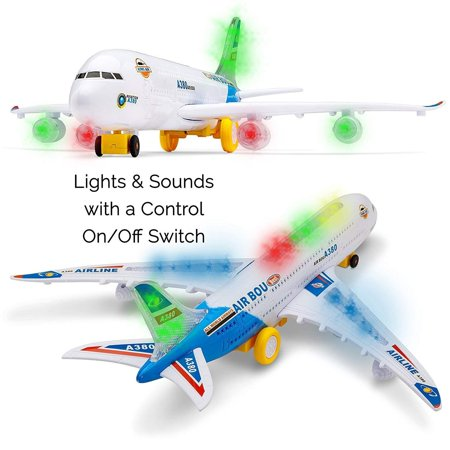 Toy Airplane (Toyze A380 Airplane Airbus Toy Model With Beautiful Attractive Flashing Lights and Loud Music, Bump and Go)