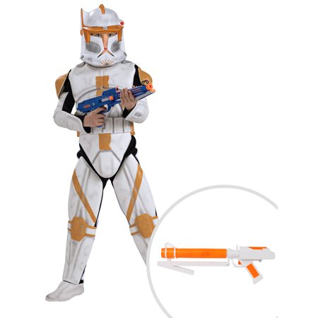 Deluxe Clone Trooper Commander Cody for Child and Star Wars Clone Trooper Blaster