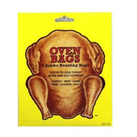 2 Jumbo Roasting Oven Bags for Turkey Beef Lamb Pork Chicken Duck