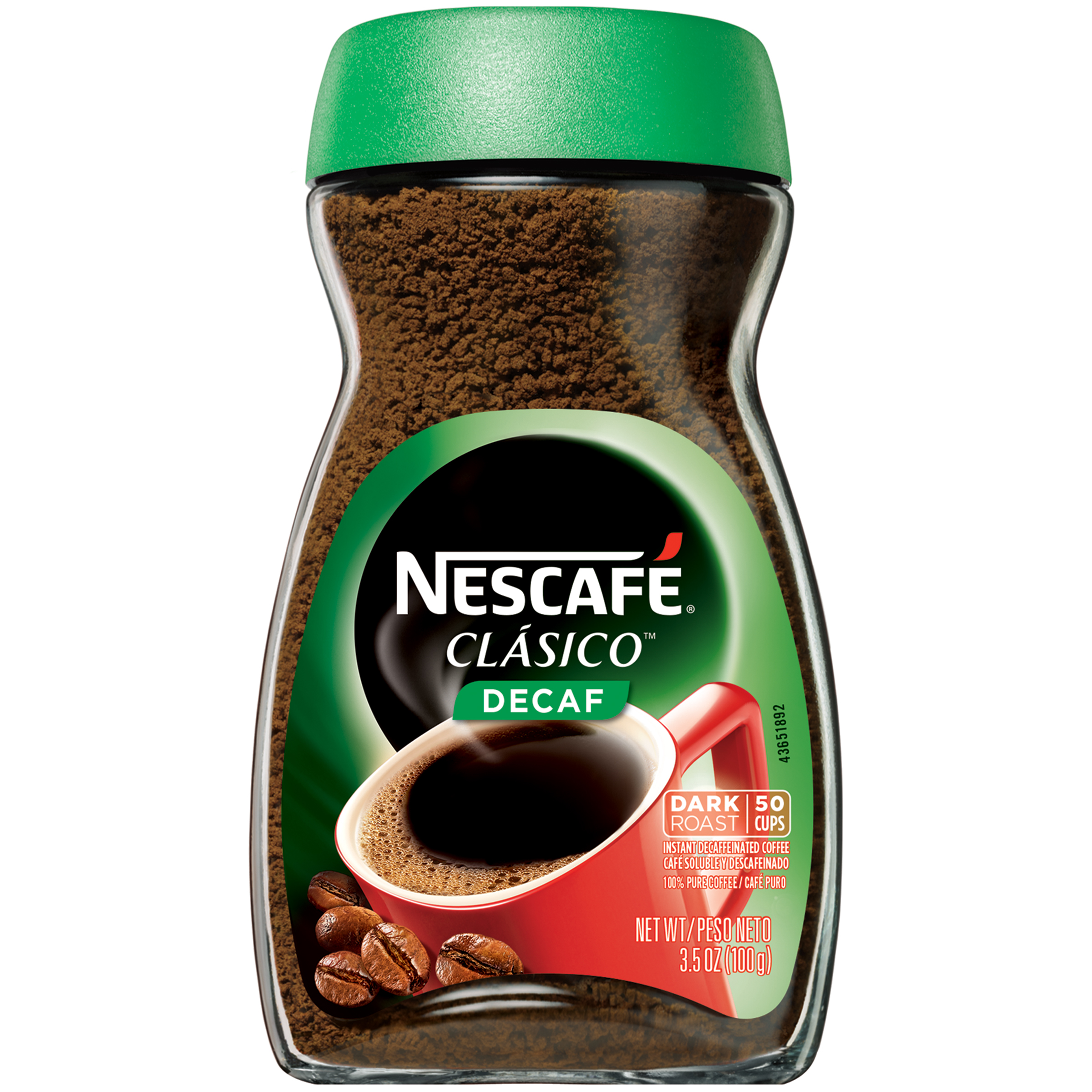 NESCAFE CLASICO Decaf Instant Coffee 3.5 oz. Jar