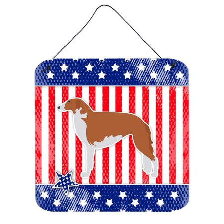 Carolines Treasures BB3299DS66 USA Patriotic Borzoi Russian Greyhound Wall or Door Hanging Prints - image 1 of 1