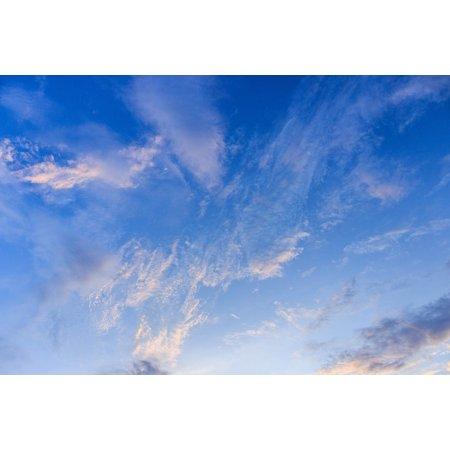LAMINATED POSTER Clouds Sky High Cloud Sky Clouds Blue Nature Sky Poster Print 24 x 36