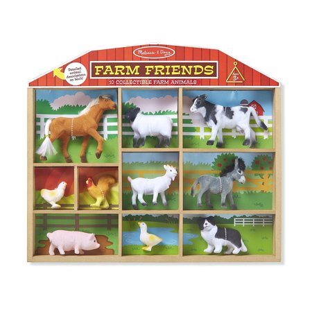 Melissa & Doug Farm Friends Collectible Toy Animal Figures (10 pcs)