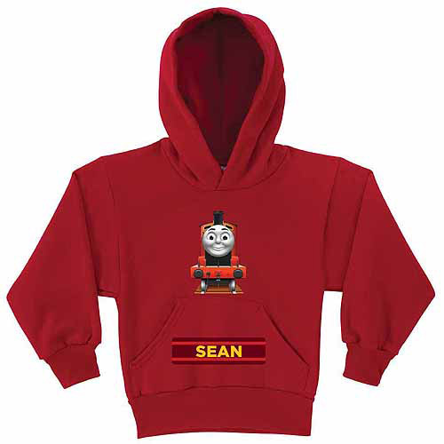 Personalized Thomas and Friends James Boys' Red Hoodie