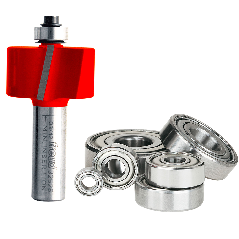 Freud 32-526 Rabbeting Straight Router Bit with Bearing Set