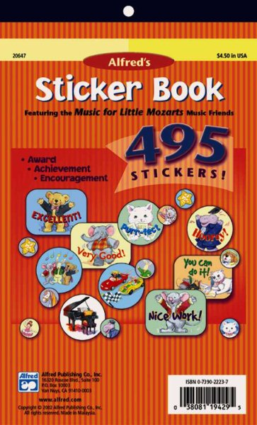 Alfred's Sticker Book by