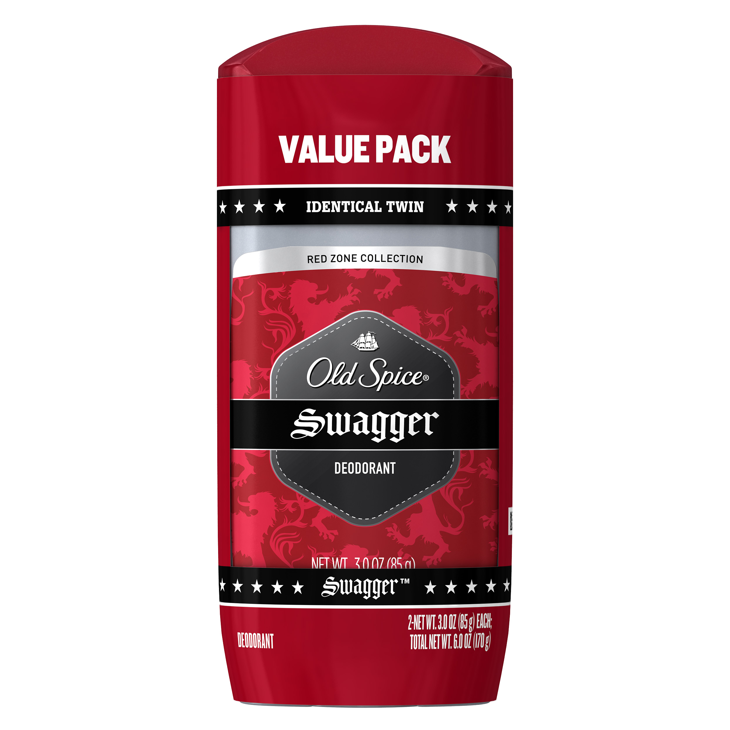 Old Spice Red Zone Swagger Deodorant for Men 3 oz Twin