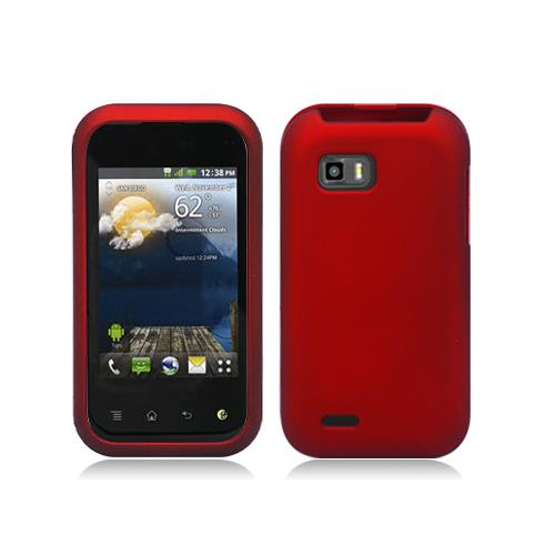 Red Snap-On Hard Case Cover for LG Mytouch Q C800