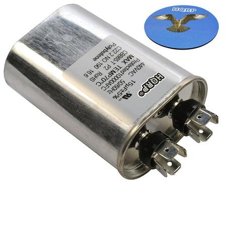 HQRP 15uf 370-440V Capacitor AC Electric Motor Run Start HVAC Blower Compressor Furnace 15MFD 27L567 97F9004 Z97F9004 97F9004BZ3 CBB65 plus HQRP Coaster