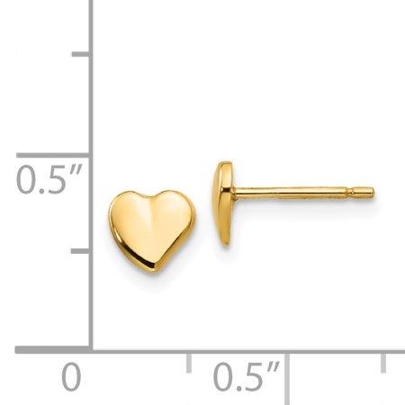 14K Yellow Gold Heart Earrings - image 1 of 2
