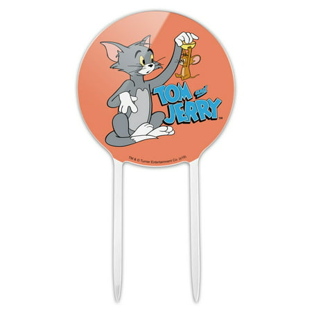 Acrylic Tom and Jerry Best Friends Cake Topper Party Decoration for Wedding Anniversary Birthday