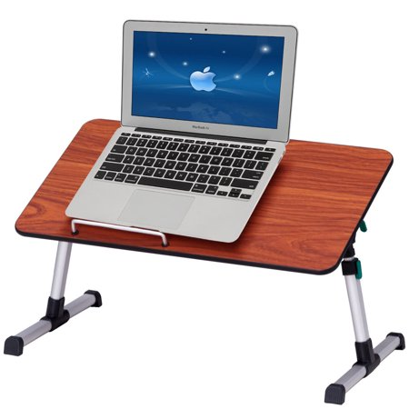 Costway Portable Height Adjustable Laptop Bed Tray Table Standing Desk Breakfast Tray](Breakfast Bed Tray)