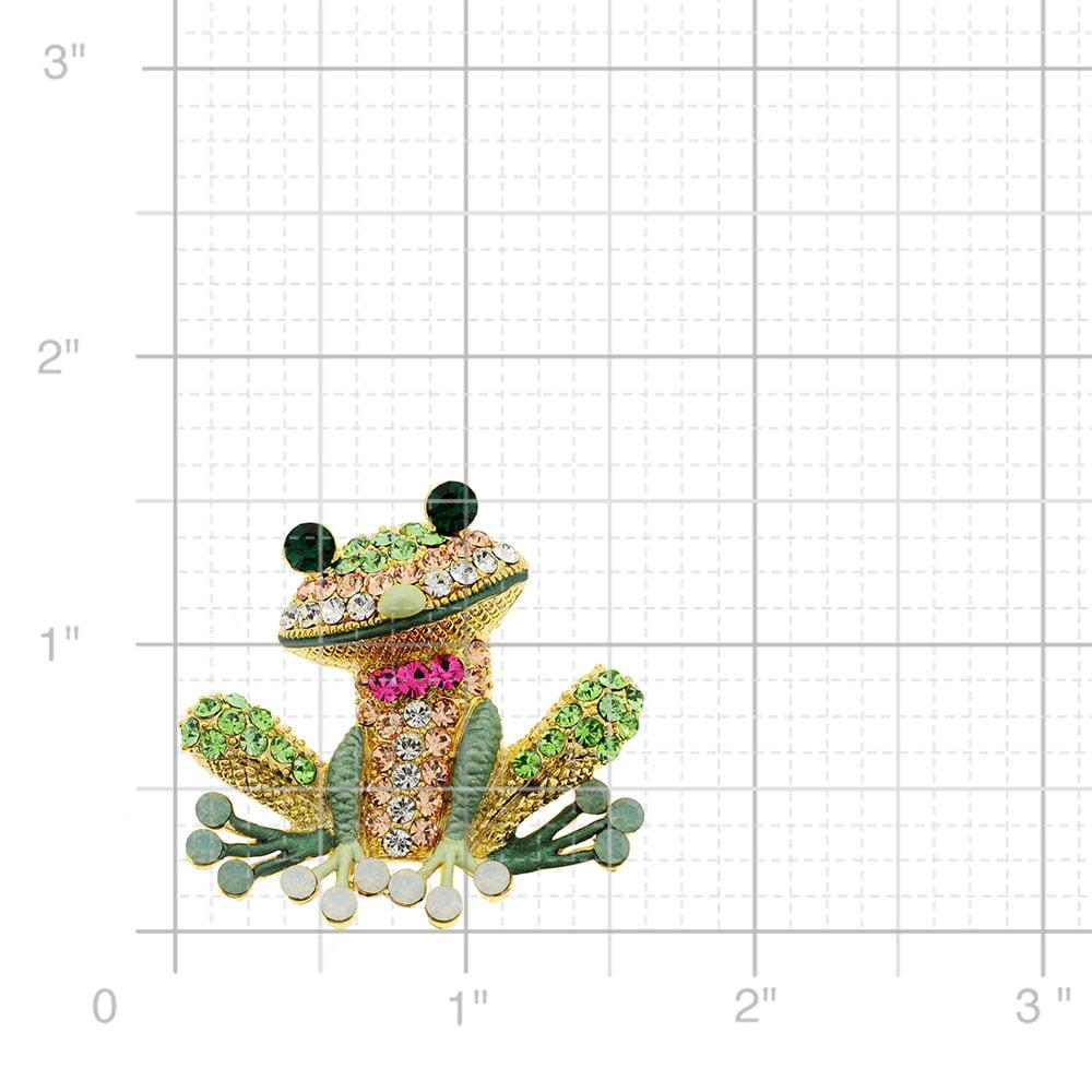 7e40b0bd1 Fantasyard - Erinite Green Frog Pin Swarovski Crystal Pin Brooch And Pendant  - Walmart.com
