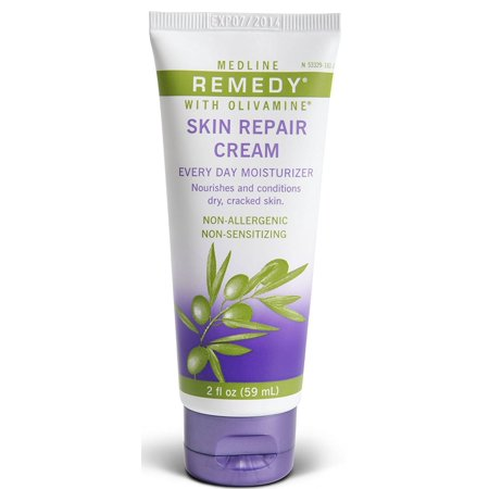 Medline Remedy Skin Repair Cream with Olivamine, 4 (Nivea White And Repair Uv Body Lotion Review)