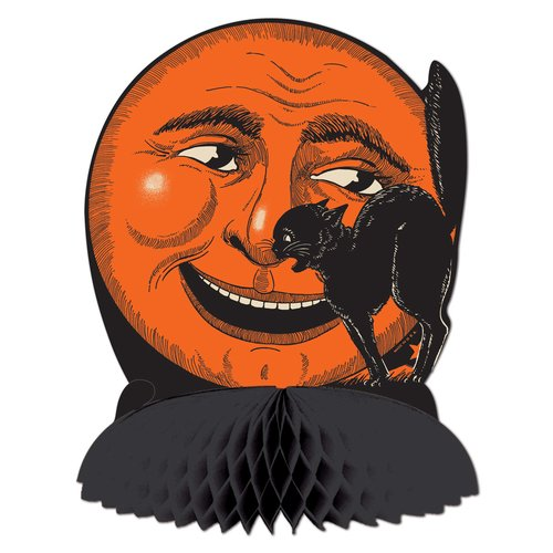 The Holiday Aisle Halloween-Vintage Cat & Moon Centerpiece