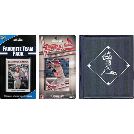 C & I Collectables MLB St. Louis Cardinals Licensed 2017 Topps Team Set and Favorite Player Trading Cards Plus Storage Album