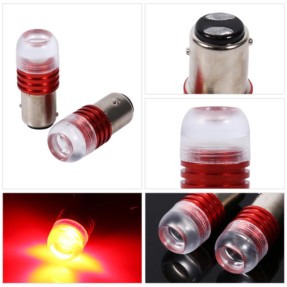 2pcs Strobe Flashing Red 1157 LED Auto Tail Brake Light Lamp Projector Bulb FO