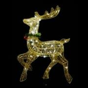 Northlight 25 in. Sisal Prancing Reindeer Pre Lit Christmas Yard Decoration