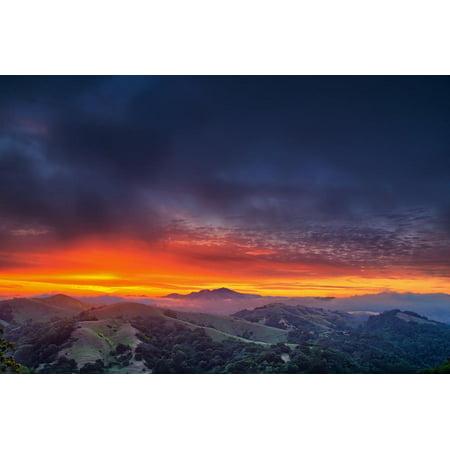 Diablo Awakens, Epic San Francisco Bay Area Sunrise Print Wall Art By Vincent
