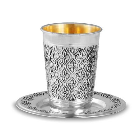 Sterling Silver Kiddush Cup - TRAY NOT INCLUDED (Kiddush Cup Sterling Silver)