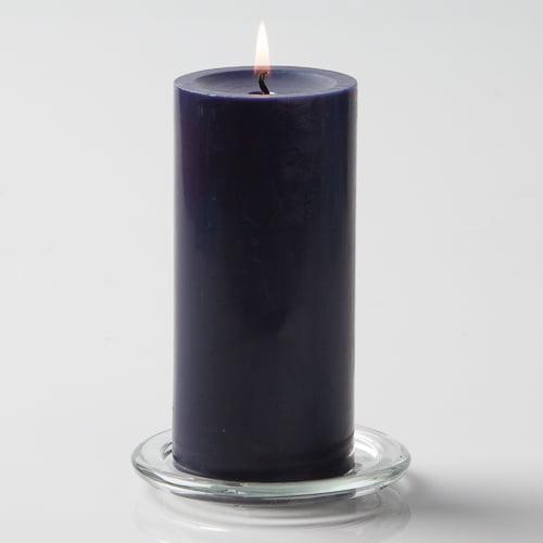 "Richland Pillar Candles 3""x6"" Navy Blue Set of 24"