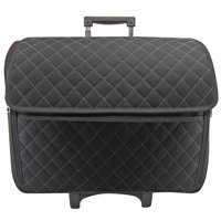 Everything Mary Basic Rolling Sewing Machine Tote, Black Quilted