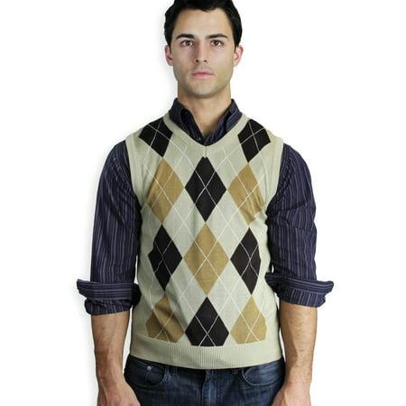 5b3588c61 Blue Ocean Clothing - Men s Argyle Sweater Vest - Walmart.com