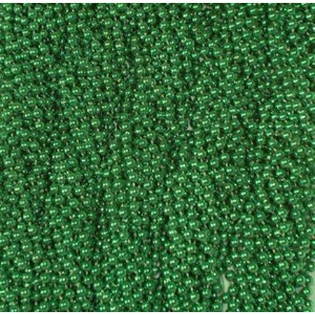 72 Green Mardi Gras Gra Beads Necklaces Party Favors 6 Dozen - Mardi Gras Party Favors