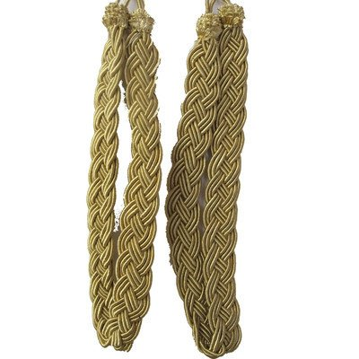 - Pair of Gold Rope Curtain Tie Backs