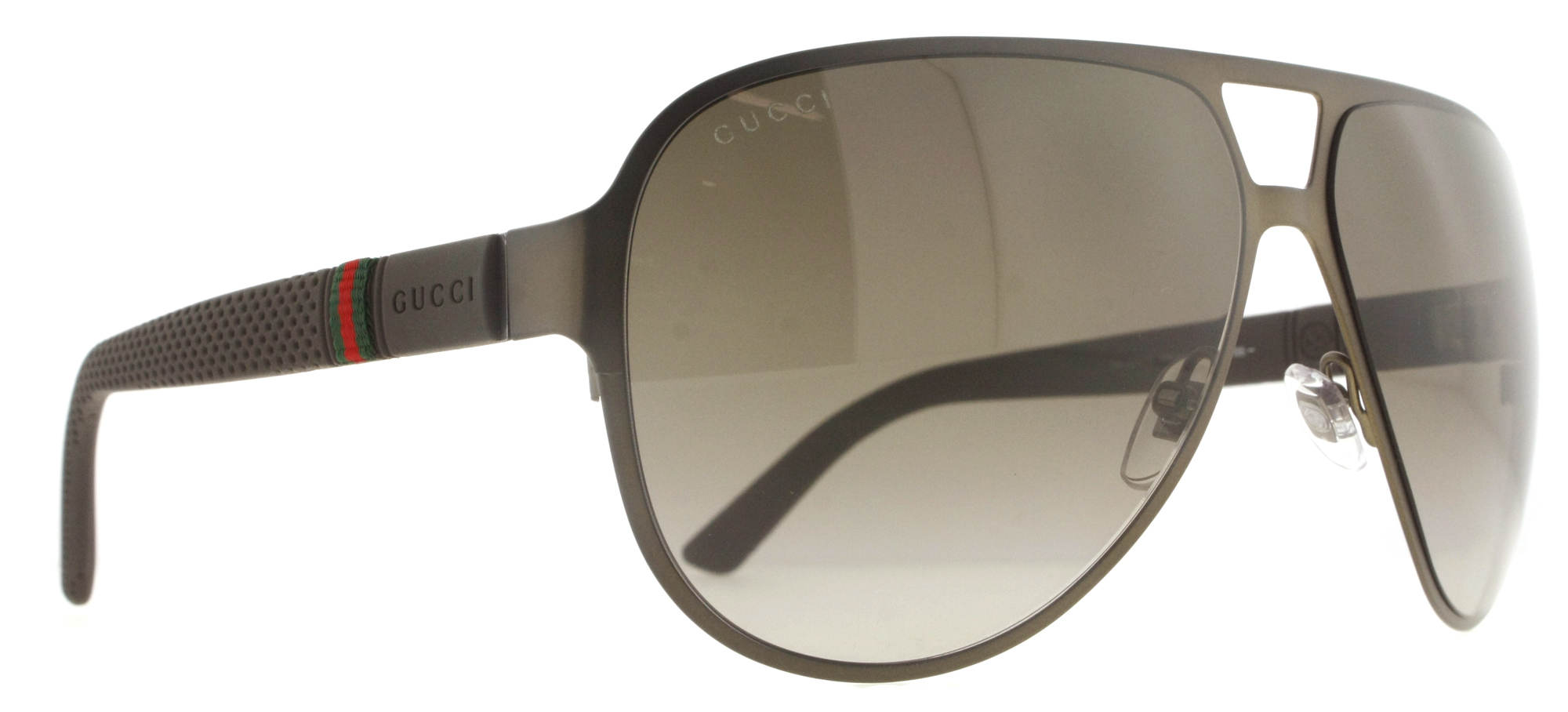 839098d2ec5 Gucci - Gucci GG 2252 S R42 HA Matte Brown Brown Gradient Aviator Men s  Sunglasses - Walmart.com