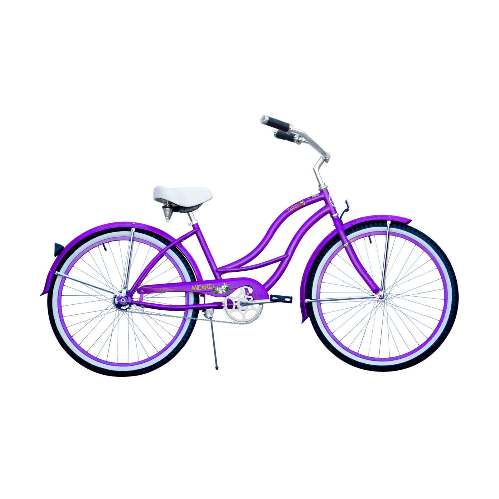 MICARGI INDUSTRIES Micargi Tahiti Women's 26-inch Purple Beach Cruiser Bike