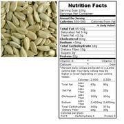 Bulk Seeds 100% Organic Raw Shelled Sunflower Seeds 50 Lb (Pack of 1)