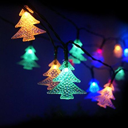 echtpowertm solar powered christmas tree light with 60 leds waterproof solar window