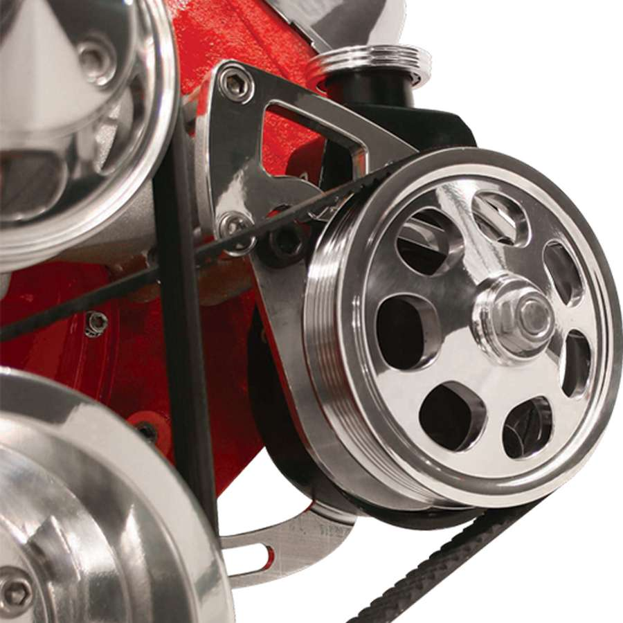 Billet Specialties Polished BBC Power Steering Bracket Kit P/N FM0230PC