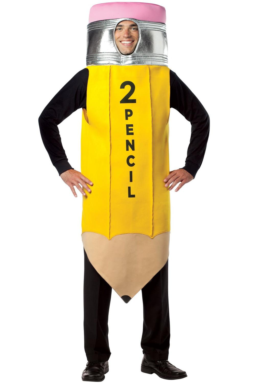 Halloween Costume 500.Pencil Men S Adult Halloween Costume One Size 40 46