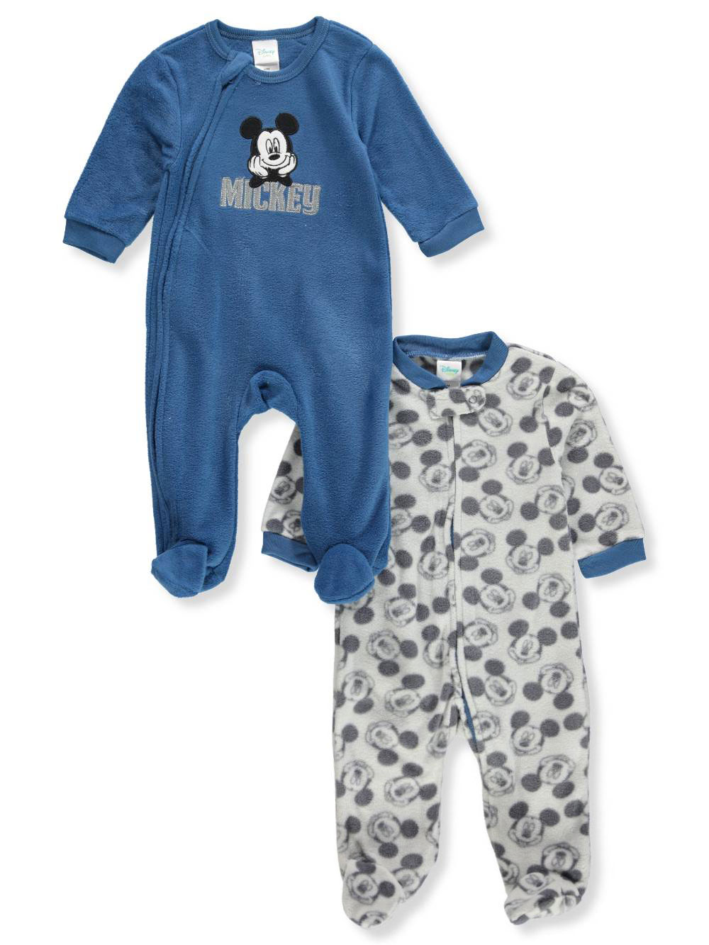 Disney Mickey Mouse Baby Boys' 2-Pack Footed Coveralls