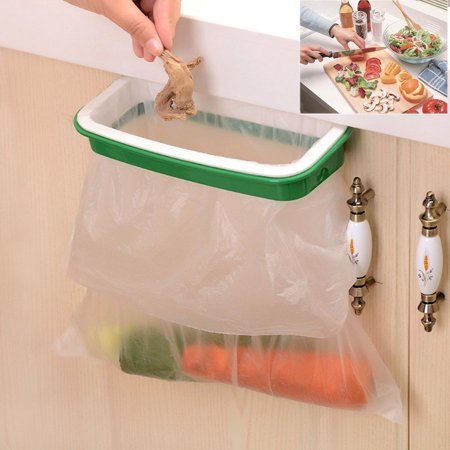 Plastic Hanging Trash Bag Holder- Multi for Kitchen Cabinet Door Storage Cupboard, 8.7