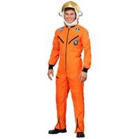 Adult Plus Size Orange Astronaut Jumpsuit Costume