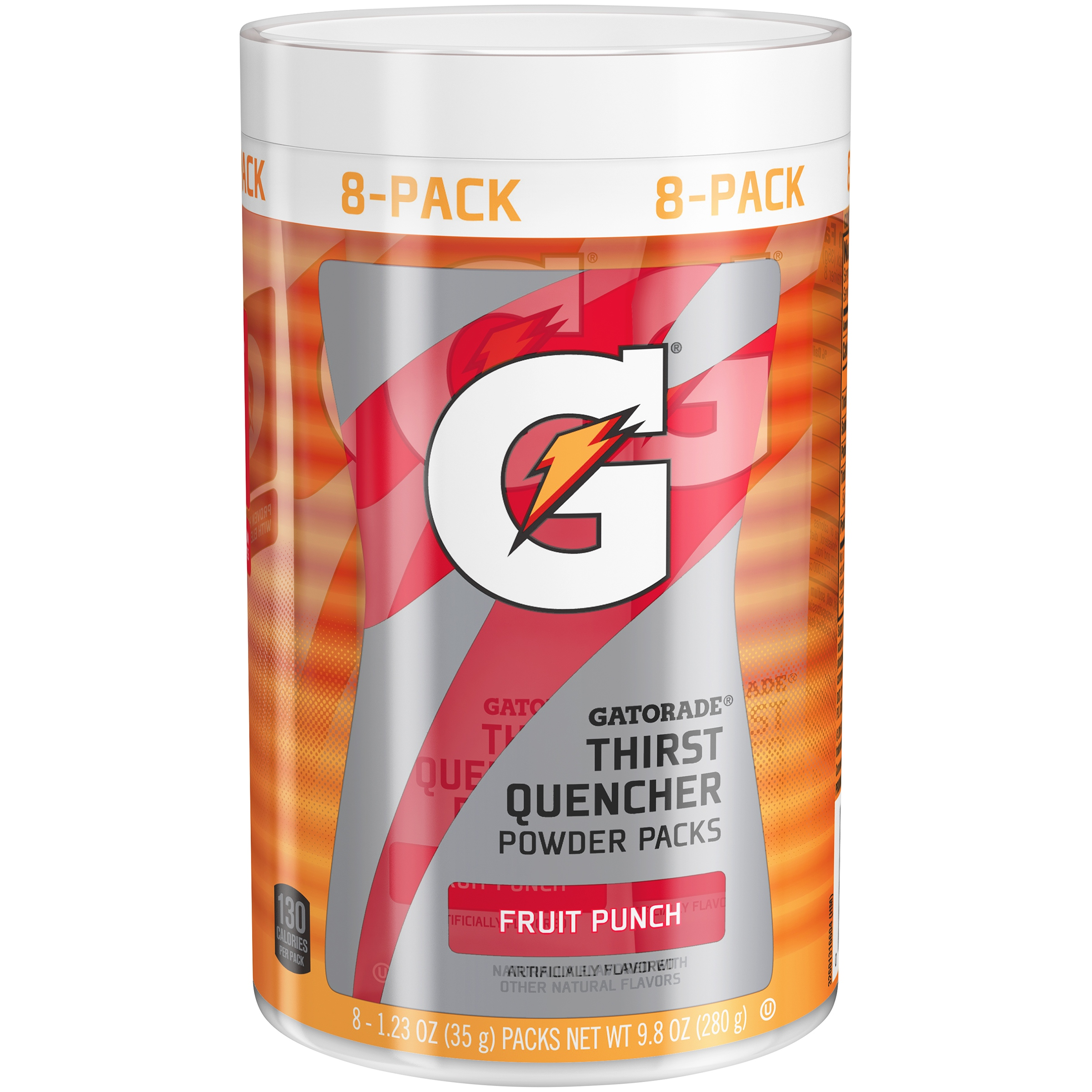 Gatorade Thirst Quencher Drink Mix, Fruit Punch, 1.23 Oz, 8 Packets, 1 Count