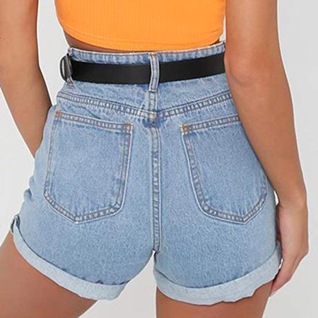 Summer All Match Casual Shorts For Women Slim Denim Pants