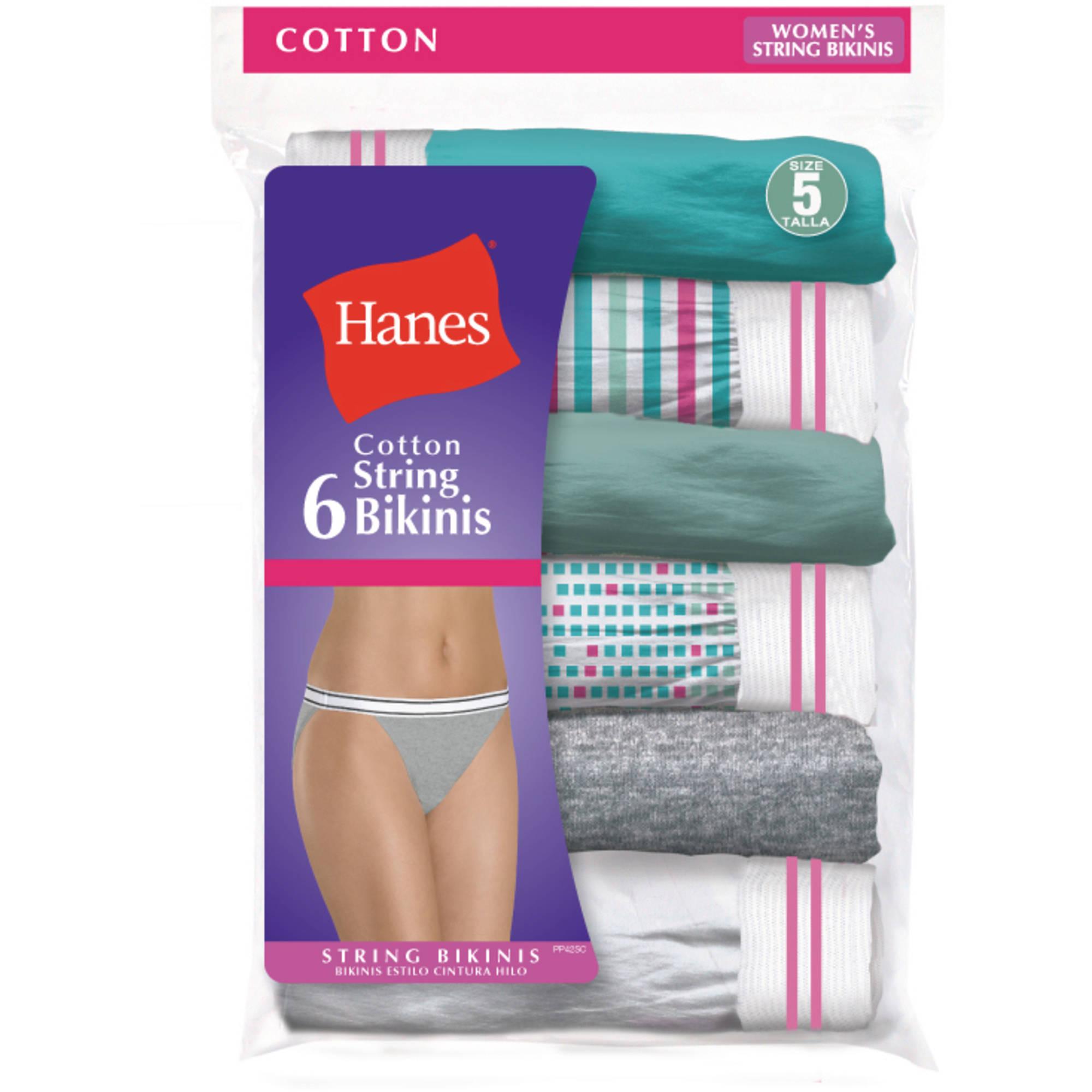 ef488a7169ab Women's Cotton String Bikini Panties 6-Pack - Walmart.com