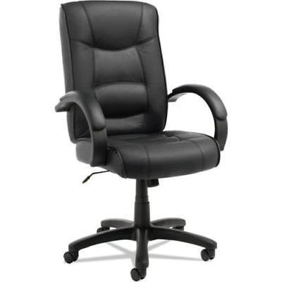 Alera Strada Series High-Back Swivel/Tilt Chair, Black Top-Grain Leather ()