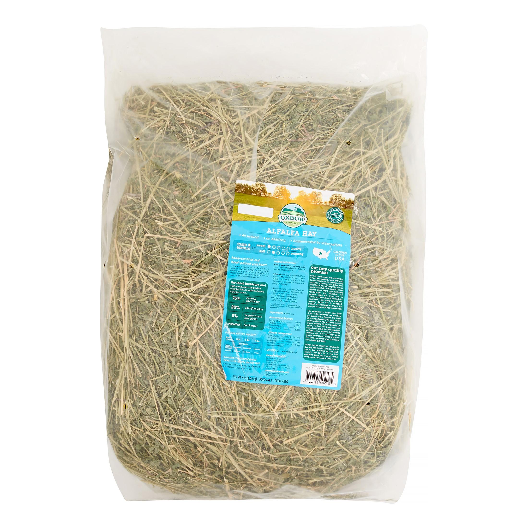 Oxbow Alfalfa Hay Small Animal Food, 9 lbs.