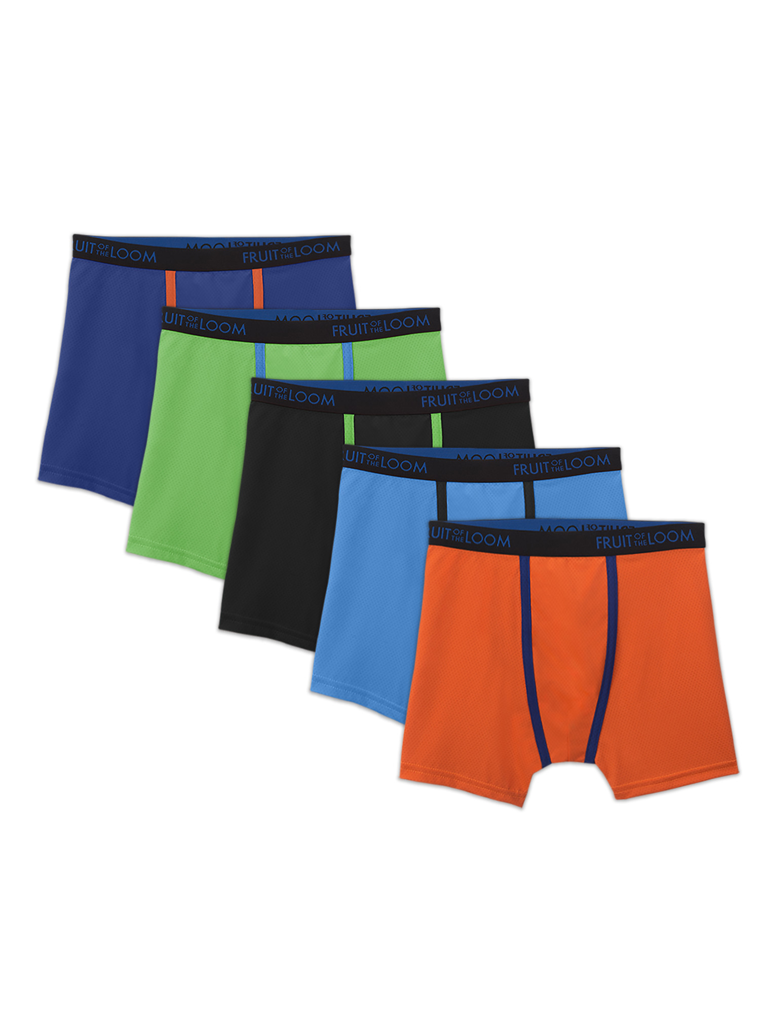 42613009215407 Fruit of the Loom Breathable Lightweight Boxer Briefs, 5 Pack (Little Boys  & Big