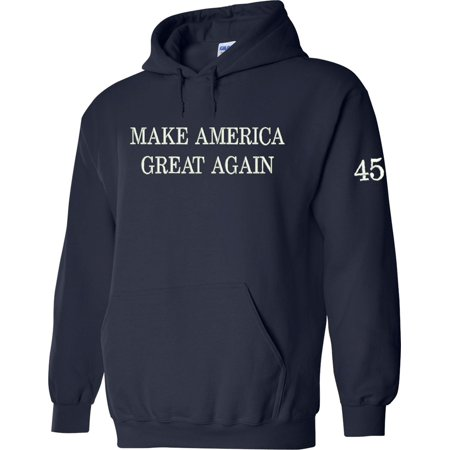 Make America Great Again Pullover Hoodie Embroidered Navy - Navy Seal Embroidered Sweatshirt