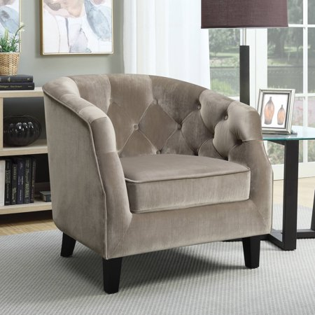 Coaster Company Barrel Back Accent Chair Velvet Putty