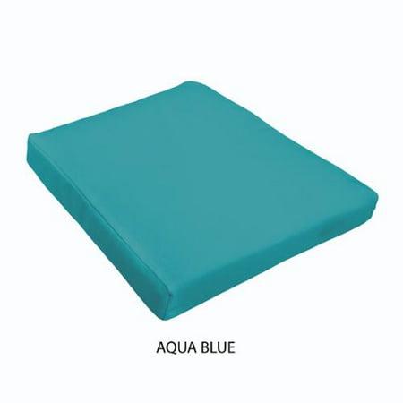 Sloane Outdoor Tapered Chair Cushion Aqua blue ()